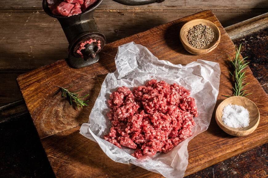 grass fed lamb mince