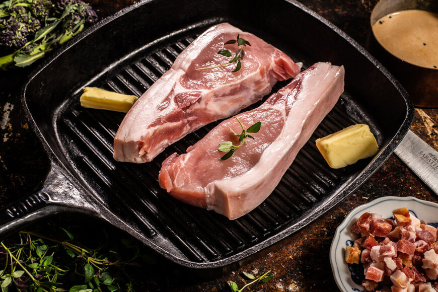 free range pork loin steaks