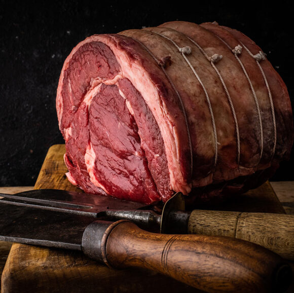 grass fed fore rib boned and rolled beef joint