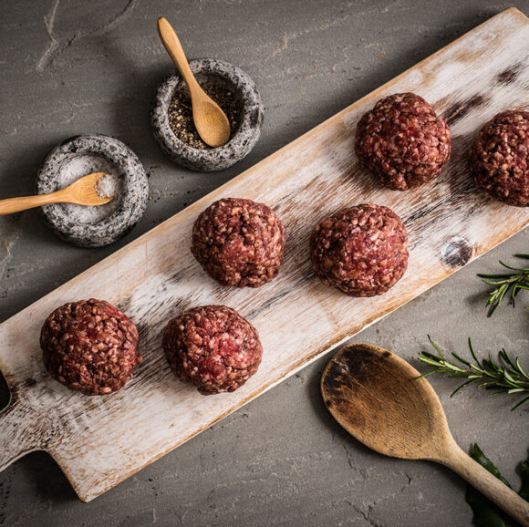 Handmade Grass-Fed Beef Meatballs