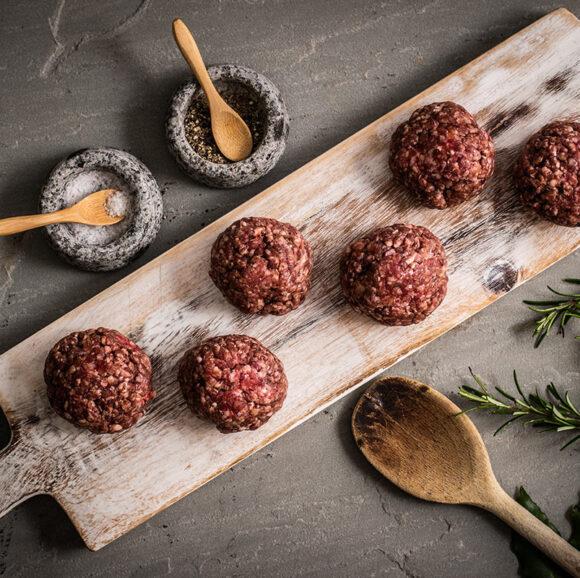 Handmade Grass-Fed Beef Meatballs