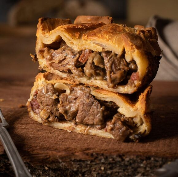 hotch potch steak bacon pie handmade